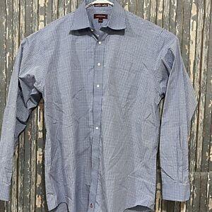 Nordstrom Smart Care Wrinkle Free Long Sleeve Shirt Mens Size 16.5/38