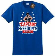 Running Man inspired Captain Freedom's T-shirt - Arnold Schwarzenegger Film NEW