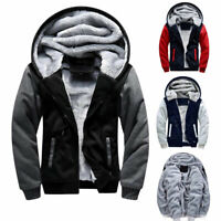 ❤️ Men's Thick Warm Fleece Fur Lined Hoodie Zip Up Winter Coat Jacket Sweatshirt