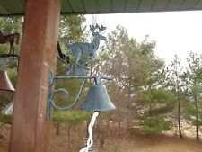 Cast Iron Metal Hanging Northern Running Buck Bell