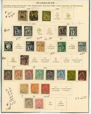 19th Century Guadeloupe on Scott Page - 23 different stamps