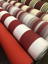 SUNBRELLA CANVAS FABRIC RED CREAM GREEN STRIPES & PLAIN FOR AWNINGS & CUSHIONS