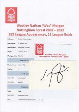 Wes morgan nottingham forest 2002-2012 original hand signed coupe/carte