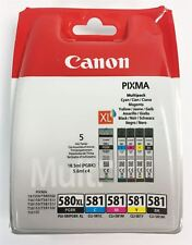GENUINE Canon PGI-580 XL/CLI-581 Multipack PGBK/C/M/Y/BK Ink Cartridges