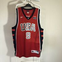 USA National Team Basketball Red Jersey Reebok Lebron James #9 Xl