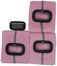 New Nike Cuff 3pc WR0094 906 Shy Pink Fitness Sports Arm Band Watch