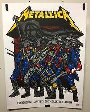 Metallica Tour poster Gillette Stadium 2017 X/70 Ames Bros