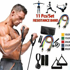 11Pcs Pull Rope Fitness Set Muscle Training Band Gym Resistance Elastic Yoga NEW