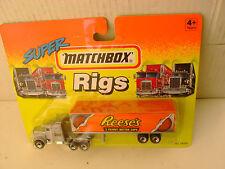 1994 MATCHBOX SUPER RIGS SILVER KENWORTH AERODYNE TRUCK & TRAILER REESE'S PEANUT