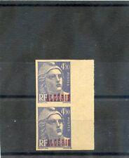 ALGERIA Sc 204 IMP(YT 239a)**/*VF 1NH/1LH IMPERF PAIR 1945 4F50 ULTRAMARINE  $60