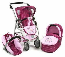 Bayer Chic 2000 Dolls Pram 3 in1 Emotion Combi stroller Buggy Car seat - New