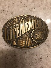 Ii Norman Company Dallas Texas A18 Vintage Nra Life Member Brass Buckle Article