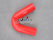 """New RED Silicone 135 degree Elbow bend hose 70mm 2.75"""" inch intake pipe kit"""
