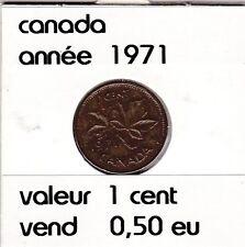 canada 1 cent  1971 voir descrition
