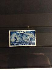 REPUBBLICA 1949 N.599 UPU nuovo con traccia linguella