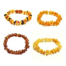 RAW nugget Baltic Amber Bracelet Anklet Baby Natural Beads Color