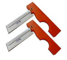 Derma Safe Folding Utility Razor Knife 2 pack Orange Emergency Survival Tool Kit