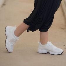 Scarpe Donna Ginnastica Sneakers Stringate Scamosciate Running Fitness ks-1142