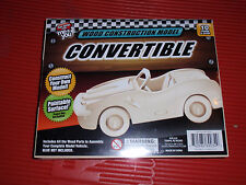 11 CUT OUT TOY WOOD CONSTRUCTION MODELS     CONVERTABLE CAR   NEW