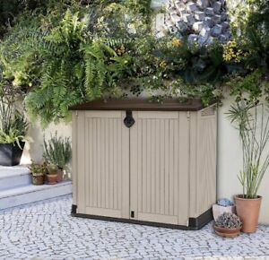 Keter Store-It-Out Midi Beige Plastic Outdoor Garden Storage Shed FREE P&P✅