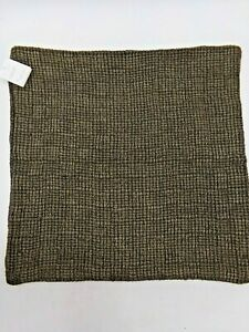 """Pottery Barn Ivy Linen Textured Stonewashed Pillow Cover 22""""  sq Espresso #9944B"""