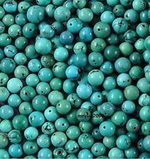 Free LOT 100pcs Jewelry Making Turquoise Round Loose Beads Strand Gemstone 6MM