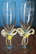 HALLMARK WEDDING TOASTING GLASSES