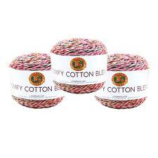 Lion Brand Yarn 756-718 Comfy Cotton Blend Yarn, Mai Tai (Pack of 3 Cakes)