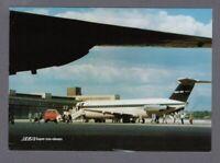 BEA BRITISH EUROPEAN AIRWAYS BAC1-11 BERLIN AIRPORT AIRLINE ISSUE POSTCARD