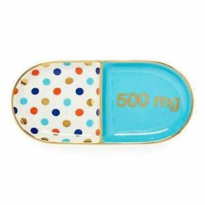 Jonathan Adler Trinket Tray Full Dose Pill Blue & Multi NEW