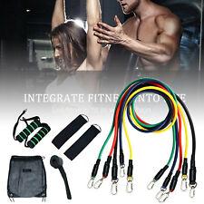 11PCS Resistance Bands Exercise Yoga Crossfit Fitness Training Tubes Set