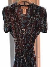 BLUMARINE SILK JEWELED  DRESS STUNNING SIZE 42 - ITALY