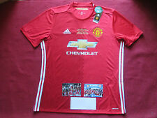 MANCHESTER UNITED ADIDAS 2017 OFFICIAL LEAGUE CUP WINNERS EMBROIDERED SHIRT- XL