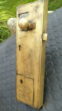 More details for coin operated penny in slotlock, lockerbie & wilkinson,tipton  solid brass,