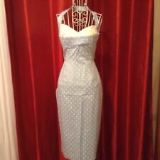 STOP STARING/PIN UP GIRL⭐️RARE⭐️POLKA DOT WIGGLE DRESS SZ SMALL