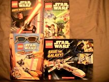 Star Wars Lego 4 Book Lot! New!