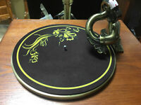 275 mm Handmade Turntable Mat Thickness 2 mm Black CD Record Player