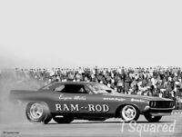 "Ram-Rod Funny Car Jo-Han Model Box Art Poster /Print 18"" x 12"" Free US Shipping"