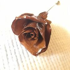 Vintage Real Rose Stickpin Gold Tone Pin Fashion Accessory Comes With Box 1979