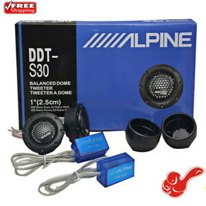 360W ALPINE DDT-S30 Car Stereo Speakers Music Soft Dome Balanced Car Tweeters