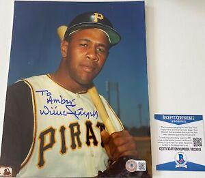 Willie Stargell Signed Pittsburgh Pirates HOF 8x10 Photo Beckett BAS COA Auto