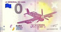 BILLET 0  EURO MEMORIAL DE CAEN 30 ANS FRANCE  2018  NUMERO 100