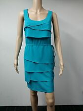 NEW - Calvin Klein - Size 8 - Lago Tiered Cinch Waist Dress - Turquoise - $99
