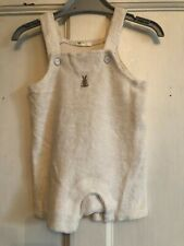 Babies Beige Towelling Dungaree Romper from Baby Benetton Age 6-9 months