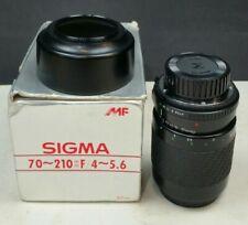 Sigma Zoom Lens 70-210mm f4-5.6 Minolta 35mm SLR Camera Boxed with Hood & Caps