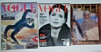 3 VTG VOGUE PARIS Fashion MAGAZINE 1988 Kurosawa '89 Isabella Rossellini Morocco
