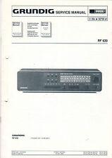 Grundig Service Anleitung Manual RF 630  B998
