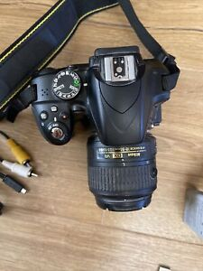 Nikon D3300 Camera with 18-55 VR Lens - Black, Very Good Condition