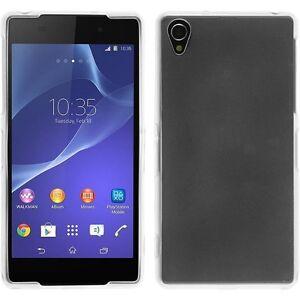 Sony Xperia Z2 Handy Hülle Klar Silikon Bumper Case durchsichtig Schutz TPU