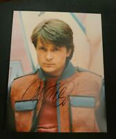 MICHAEL J FOX SIGNED 11X14 PHOTO BACK TO THE FUTURE MARTY MCFLY D W/COAPROOF WOW